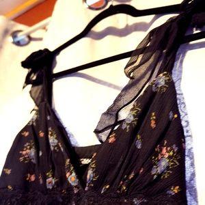 Betsey Johnson Floral Chiffon Dress